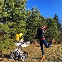Первое знакомство с детской коляской Anex Sport цвет PA-01 Серый / Горчичный