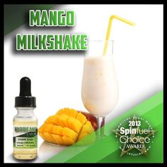 Mango Milkshake ~ Let it steep to bring out all the flavors. You get the creaminess of a vanilla milkshake with the tropical flavor of mango, and the slightest hint of real cinnamon! #hurricanevapor