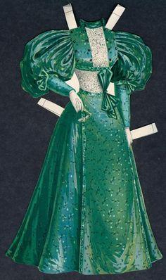 1/26/1896, Ladies Luncheon Toilette, Boston Sunday Herald Paper Doll Dress