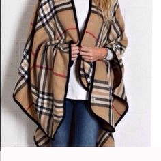 5⭐️rated  top selling plaid poncho 5star rated poncho new no tags in original wholesale packing Sweaters Shrugs & Ponchos