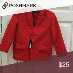 Red child blazer nwt Red blazer great for holidays and formal events Gino giovanni Jackets & Coats Blazers
