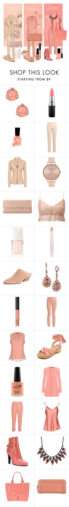 """Warm Neutral Nudes"" by lora-86 on Polyvore featuring Kate Spade, MAC Cosmetics, Givenchy, La Perla, Olivia Burton, Nancy Gonzalez, Miss Selfridge, Christian Dior, Vince and NARS Cosmetics"