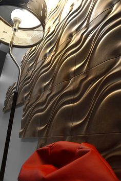 Wall design with leather by Matteo Leorato