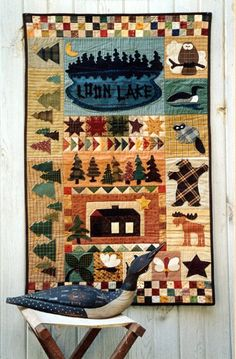 Country Threads :: Pieced and Appliqued Quilt Patterns :: Loon Lake