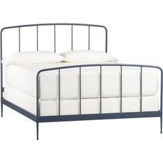 Rory Blue Queen Bed. Crate & Barrel. $599.00