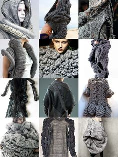 charcoal grey chunky knits