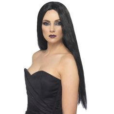 Witch Wig-Black 61cm Long