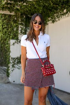 How to Style a Classic White Polo Shirt - Girls Polo Shirt - Ideas of Girls Polo Shirt - ralph lauren white polo shirt Polo Shirt Outfit Women's, Polo Shirt Girl, Polo Shirt Women, Golf Outfit, T Shirt, Polo Shirt Style, Polo Shirt White, Polo Shirts, Polo Outfits For Women