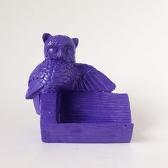 Owl Business Card Holder, Purple Owl, Red Owl, Office Organizer, Business Supply, Owl Decor, Display, Decoration