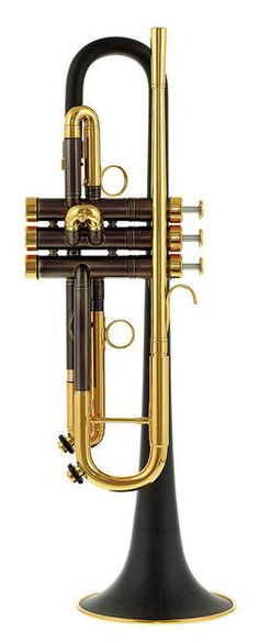 """daCarbo Toni Maier 139R Bb- Trumpet - Thomann #trumpet #gold #black #golden #windinstrument #instrument #brass #wind  www.thomann.de daCarbo """"Toni Maier"""" 139R Bb- trumpet, ML- bore, bell made of carbon with a brass rim ring Ø 139mm, body made of brass, goldlac lacquered, incl. daCarbo Gig Bag"""