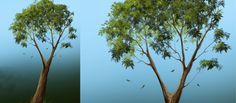 Photoshop Tutorial: Drawing Nice Trees in a Quick Way