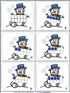 Snowman Button Counting Puzzles - Playdough To Plato Free snowman counting puzzles for preschool or kindergarten. Fun winter math center or counting game! Kindergarten Fun, Math Classroom, Math Activities, Preschool Activities, Math Math, Winter Activities, Math Games, Winter Thema, Math Stations
