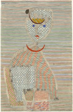 """Paul Klee. Errand Boy (Ausläufer). (1934). Watercolor, gouache, and pencil on paper. 19 1/8 x 12 3/8"""" (48.6 x 31.4 cm). James Thrall Soby Bequest. 104.1979. © 2017 Artists Rights Society (ARS), New York / VG Bild-Kunst, Bonn. Drawings and Prints"""