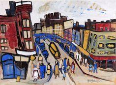Harlem Street, 1941, William Johnson