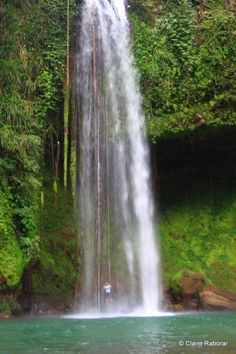 This place was so captivating it made me forget the arduous hike I just went through. The Buruwisan Falls cascaded smoothly against the long vines that grow on the falls itself. Places Around The World, Oh The Places You'll Go, Places To Travel, Around The Worlds, Philippines Tourism, Philippines Food, Somewhere In Time, Travel Guides, Travel Tips