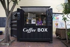 container coffee shop Sharon Sweeney at the Coffee Box - ABC News (Australian Broadcasting Corporation)