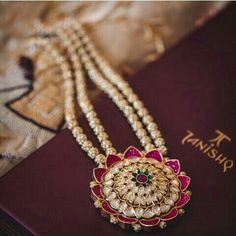 Tanishq gold kundan polki necklace