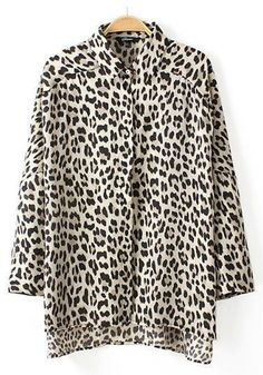 Multicolor Leopard Print Loose Blouse
