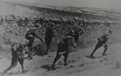 Tropas republicanas en la Batalla de Valsequillo a inicios de 1939 sobre Andalucía.