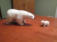 Needle felting Polar bear tutorial