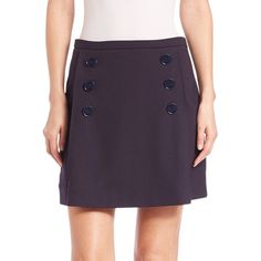 Sonia by Sonia Rykiel Sailor Skirt ($180) ❤ liked on Polyvore featuring skirts, apparel & accessories, navy, sonia by sonia rykiel, long skirts, navy blue skirt, purple skirt and long purple skirt