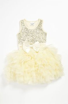 Glitter and tulle infant dress w/bow.holiday outfits