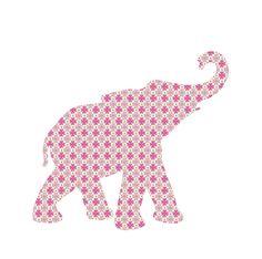 Tapetentier Baby-Elefant aus Vintage-Tapeten Rosa...