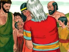 Free Bible illustrations at Free Bible images of a son, Ishmael born to Abram (Abraham) by Hagar.
