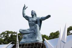 長崎・平和公園・平和祈念像  Peace Statue in Heiwa Park, Nagasaki