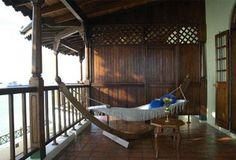 A balcony in Zanzibar. In a hotel
