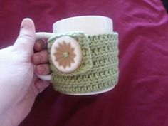 Extra Large Green Mug Hug Cozy With Extra Large by BubblesOfDeath, $4.00