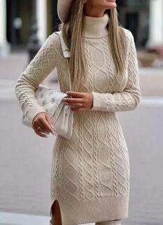 Long Sleeve Sweater Dress, Jumper Dress, Knit Dress, Winter Dresses, Casual Dresses, Fashion Dresses, Long Sweaters, Sweaters For Women, Ladylike Style