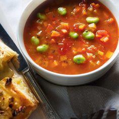 Vegetable and Fava Bean Soup soup soup soup healthy recipes froide legumes minceur potimarron Chowder Recipes, Soup Recipes, Cooking Recipes, Healthy Recipes, Healthy Soup, Yummy Recipes, Soup Beans, Fava Beans, Ricardo Recipe