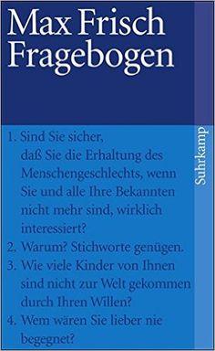 Fragebogen (suhrkamp taschenbuch): Amazon.de: Max Frisch: Bücher