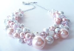 Cluster Pearl Necklace -