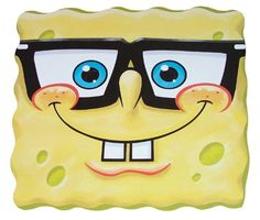Sponge Bob Square Pants (With Glasses) - Card Face Mask - http://moviemasks.co.uk/product-category/sample-product/sponge-bob-square-pants-with-glasses-card-face-mask
