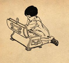Illustration by Jessie Wilcox Smith from 'A Child's Garden of Verses' by Robert Louis Stevenson. Image features a child digging around in a treasure chest. http://www.amazon.com/gp/product/1447448952/ref=as_li_tl?ie=UTF8&camp=1789&creative=9325&creativeASIN=1447448952&linkCode=as2&tag=reaboo09-20&linkId=AIWWRJBS2GY4KE25