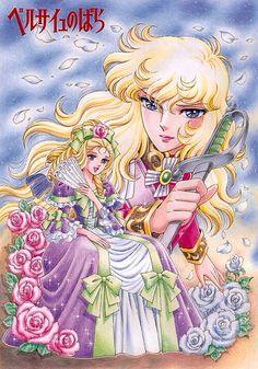 Art by Shingo Araki: The Rose of Versailles (versailles no bara / Lady Oscar) [Calendar Animation Collectible - CDJapan Manga Art, Anime Manga, Anime Art, Real Anime, Old Anime, Manhwa, Lady Oscar, Candy Pictures, Bd Comics