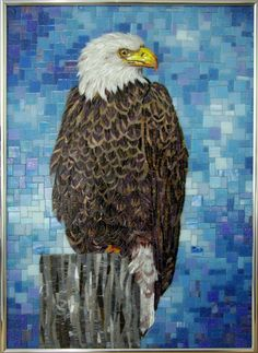 American Bald #Eagle in #mosaic #tile. Hakatai Image Gallery