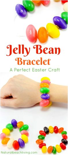 Jelly Bean Crafts, How to Make a Jelly Bean Bracelet, Easter Craft Idea for Kids, The Jelly Bean Prayer Printable, Easy Easter Activity everyone will love. Easter Activities, Preschool Crafts, Fun Crafts, Preschool Ideas, Easter Games, Craft Ideas, Holiday Crafts, Food Ideas, Holiday Games
