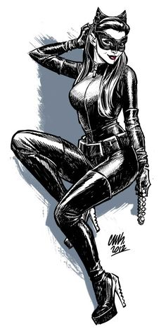DC Comics' BATMAN AND ROBIN Comic Book Artist, Cameron Stewart, was recently very inspired by Anne Hathaway's performance as Catwoman i. Catwoman Comic, Catwoman Cosplay, Batman And Catwoman, Batman Art, Batgirl, Comic Book Characters, Comic Character, Comic Books Art, Comic Art
