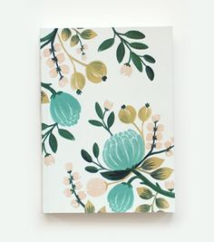 Pattern - Love all products made at Rifle Paper design studio. Botanical Journal from Rifle Paper Co. Notebook Design, Stationary Design, Wedding Stationary, Floral Illustrations, Botanical Illustration, Logo Fleur, Rifle Paper Company, Diy Papier, Packaging