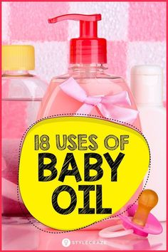 Sure, baby oil is great when you have a baby around as it keeps your child's skin soft and smooth, but it's just as good when there's no baby around. Salt Body Scrub, Diy Body Scrub, Diy Scrub, Beauty Make Up, Beauty Care, Beauty Hacks, Baby Oil Uses, Oils For Newborns, Oil Benefits
