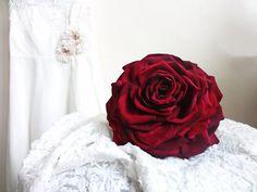 Glamelia/ Carmen/ petal flower/ red Rose/ by FlowerBootsLigaAsere