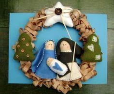 another option for December Nativity Ornaments, Christmas Nativity Scene, Nativity Crafts, Felt Christmas, Felt Ornaments, Christmas Holidays, Christmas Crafts, Christmas Decorations, Christmas Ornaments