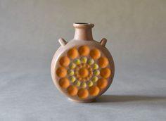 Vintage Strehla East German pottery vase GDR Mid by MightyVintage Pottery World, East Germany, Vintage Vases, Ink Stamps, Pottery Vase, Lava, Mid-century Modern, Mid Century, Hand Painted