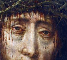 Aelbrecht Bouts (workshop of) - Christ crowned with thorns. Catholic Art, Religious Art, Images Terrifiantes, Rennaissance Art, Flower Art Images, Illustration Art, Illustrations, Renaissance Paintings, Victorian Art