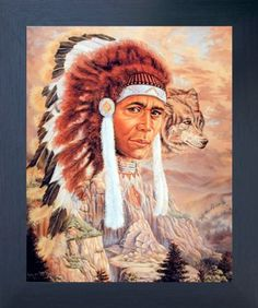 Brighten up any room with this Native American Indian chief with wolf print framed art poster. This wonderful piece of framed art reflects the ultimate definition of excellence. This framed poster will be a great addition for home and help to add humor into your beautiful home. Its wooden espresso frame accentuates the poster mild tone. The frame is made from solid wood measuring 20x24 inches with a smooth gesso finish. This framed poster includes a saw tooth hanger on the back for easy…