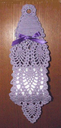 Victorian Pineapple Hanging Tissue Holder