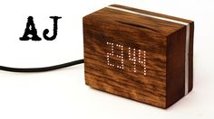 LED, wood and aluminum clock build video is online. The clock is powered by arduino and uses a 16x9 LED grid and real time clock. #arduino #led #leds #electronics #woodworking #woodwork #handmade #diy